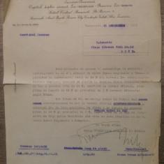 Scrisoare Banca Comerciala Italiana si Romana, 1935