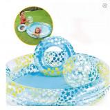 Piscina Gonflabila Bebe/Copii Set Minge +Colac intex 122 - 25 cm, 12-24 luni, Unisex, Multicolor, Bestway