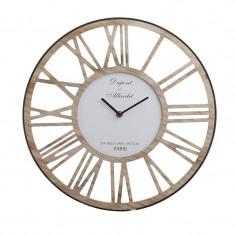 Ceas de perete lemn si metal Paris 40 cm