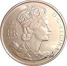 Canada 50 Cents 2002 - Elizabeth II (Golden Jubilee), 27.13 mm, KM-444 UNC !!!