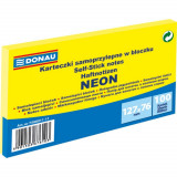 Cumpara ieftin Notite Adezive DONAU, 76x127 mm, 100 File, 70 g/m², Culoare Galben Neon, Notes-uri, Post-it, Articole Hartie, Accesorii Birou