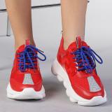 Pantofi sport dama Rica rosii