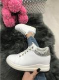 Adidasi dama albi cu argintiu cu platforma marime   40, 41+CADOU