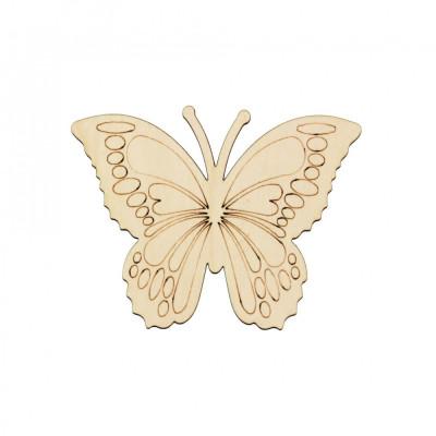Figurina Fluture din Lemn F6 - 130x100 mm foto