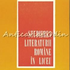 Studierea Literaturii Romane In Liceu - Viorel Alecu