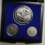 BNR - 50 de ani de la înfiinţarea F.A.O  . MONEDE 10 LEI&100 LEI  1995 . PROOF ., Argint