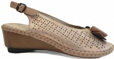 Sandale dama cu talpa ortopedica Rieker 66167 rosa foto