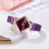 Cumpara ieftin Ceas dama elegant bratara magnetica, Rombus Style, purple