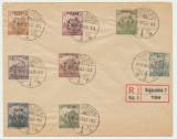 ROMANIA 1919 3 August FDC Emisiunea Cluj 8 timbre seceratori