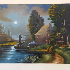 TABLOU VECHI ULEI/CARTON NESEMNAT, Peisaje, Realism