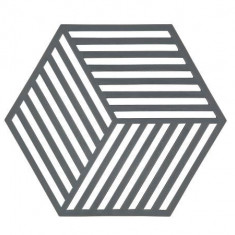 Suport din silicon pentru vase fierbinti Hexagon Natural, L16xl14 cm, Zone Denmark