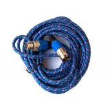 Cumpara ieftin Cablu XLR mama - XLR tata, 3 m, impletitura textila, Albastru