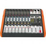 Mixer 8 canale cu egalizator, efecte, USB si Bluetooth