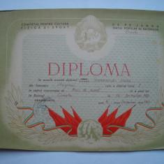 Diploma Comitetul pentru Cultura Fizica si Sport, tenis de masa, 1953
