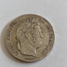 MONEDA ARGINT FRANTA 5 FRANCS 5 FRANCI 1839