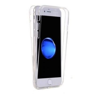 Capac de protectie Full TPU 360° pentru iPhone 6 Plus / 6S Plus, transparent foto
