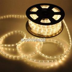 Furtun Luminos 100m 2600 LEDuri Alb Cald CL