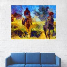 Tablou Canvas, Pictura Artistica, Calareti pe Cai - 20 x 25 cm