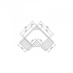 Chiuveta de bucatarie Pyramis Inox CELESTE 83x83 2B 1D DR LN