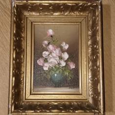 Tablou pictat in ulei vaza cu flori., Altul