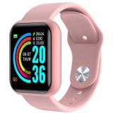 Cumpara ieftin Ceas smartwatch L18, Bluetooth, Pedometru, Monitorizare Somn Puls Activitati Puls Oxigen, Notificari, Pink
