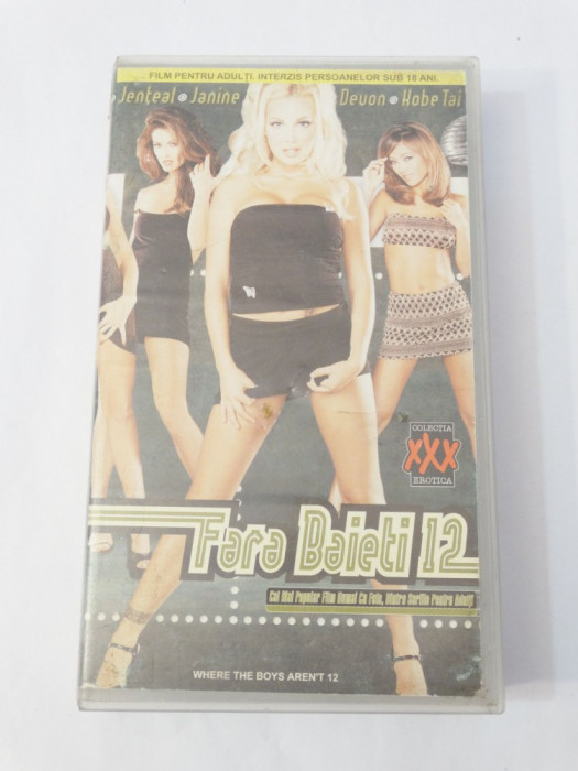 Caseta video VHS originala film tradus Ro XXX - Fara Baieti 12