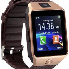 Smartwatch iUni DZ09 Plus, 1.54inch, 1.3MP, Bluetooth, Bratara silicon (Auriu)