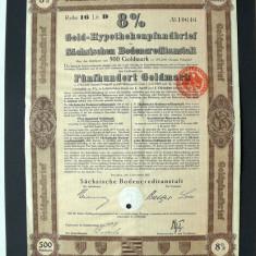 Titlu De Stat Obligatiune Germania 1927-500-Goldmark