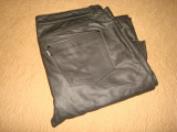 Pantaloni din piele naturala/Barbati/Clasici/Culoare neagra/Moto/Motor/Rock/POLO, 54, Negru, Polo By Ralph Lauren