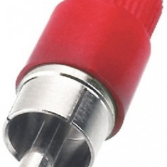 Conector RCA cablu Monacor T-700G/RT