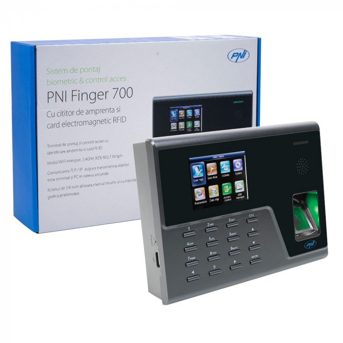Resigilat : Sistem de pontaj biometric si control acces PNI Finger 700 cu cititor