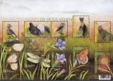 BELGIA -2017 - Rezervatii Naturale - Pasari,Flori,Insecte - Bloc cu 10 marci MNH, Nestampilat