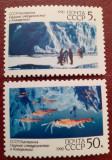 Rusia 1990 Antarctica pesti , scafandru, serie 2v. mnh, Nestampilat