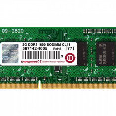 Memorie laptop Transcend 2GB DDR3 1600 MHz CL11
