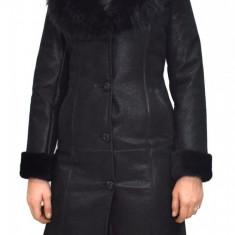 Cojoc dama, din blana naturala, Kurban, 136-01-95, negru