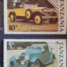 Tanzania masini, masini de epoca serie 4v. MNH