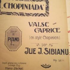 Chopiniada. Valse caprice pour le piano, par Ilie Sibianu+ Valse rouge, Z. Pascu