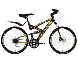 "Bicicleta MalTrack MTB 26"" cadru negru si galben Mountain Bike"