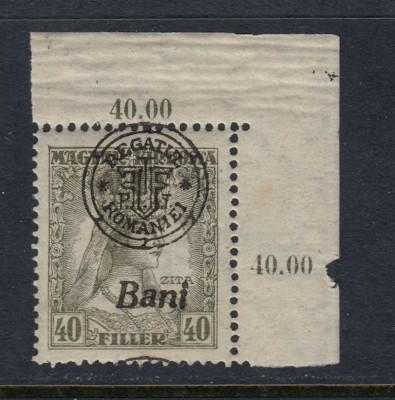 ROMANIA 1919 - CLUJ ORADEA ZITA EROARE MONOGRAM SUPRATIPAR DEPLASAT MNH BODOR foto