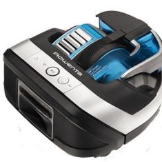 Aspirator robot Rowenta Smart Force Cyclonic RR8021WH, Tehnologie Robart, Autonomie 60 min, App, 7 programe (Negru/Albastru)