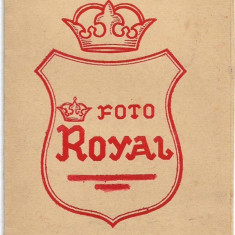 Suport rama fotografie interbelic studio Foto Royal romanesc vechi