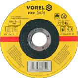 Disc abraziv pentru debitat metale 125x2.5x22 mm VOREL