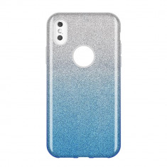 Husa Huawei P Smart 2019, Glitter / Sclipici, Albastru