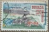 SUA Nevada Statehood, Virginia City și Harta Nevada, Sarbatori, Stampilat