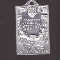 Medalion religios, 1921, 17x24mm, Alu
