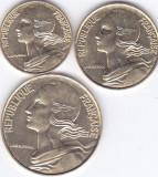 Moneda Franta 5, 10 si 20 Centime 1994 - KM#929-30/933 UNC ( set x3 ), Europa