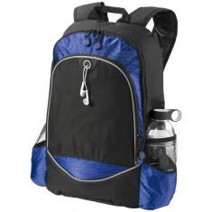 Rucsac Laptop, Everestus, BN, 15 inch, 600D poliester, negru, albastru, saculet de calatorie si eticheta bagaj incluse