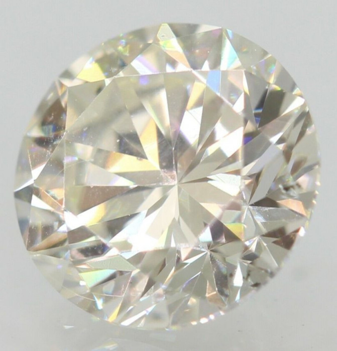 DIAMANT NATURAL ALB-Certificat Autenticitate-0,40ct.-4,75mm-O-P-VVS1-pret f.bun