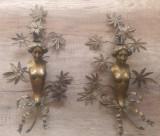 Vechi sfesnice art nouveau din bronz// aplice perete