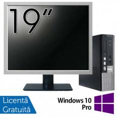 Calculator Dell OptiPlex 7010 USFF, Intel Core i5-3475S 2.90GHz, 4GB DDR3, 120GB SSD + Monitor 19 Inch + Windows 10 Pro